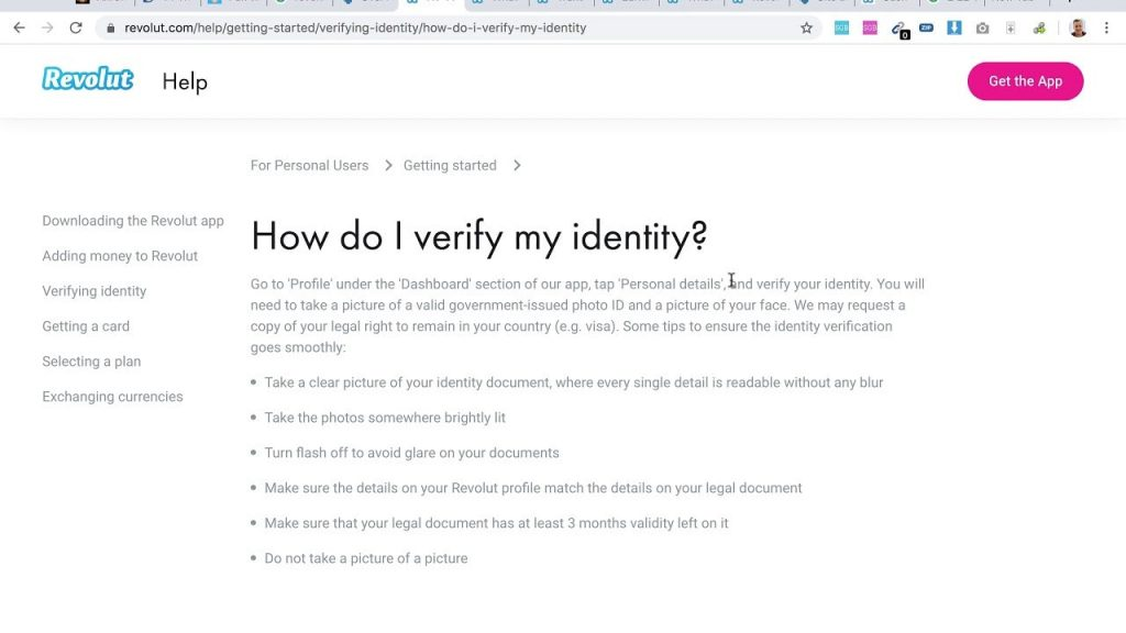 how to build app like revolut: online ID check