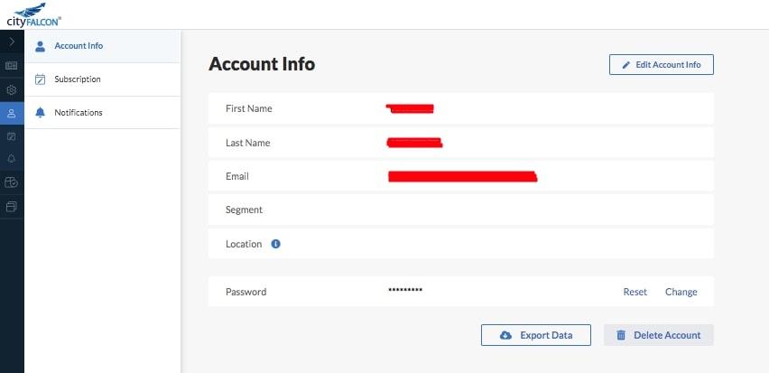 How to Create a News Aggregator Website: user profile CityFALCON