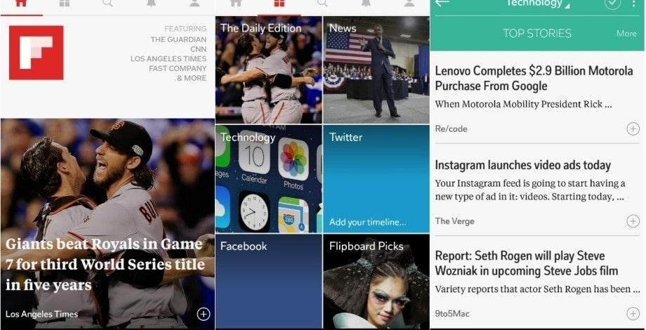 News Aggregator Website: Flipboard Newsfeed