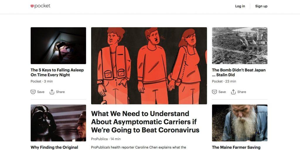 News Aggregator Website: Pocket newsfeed