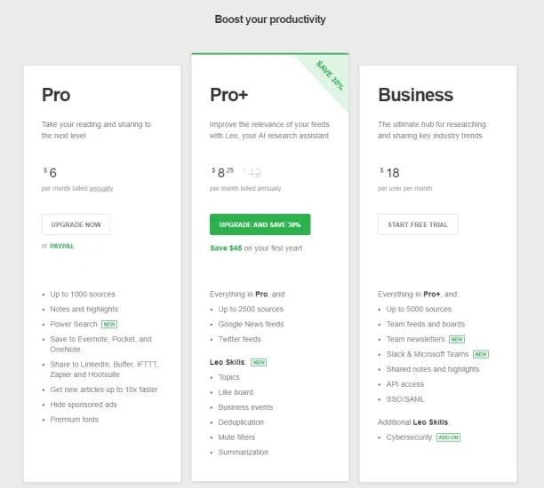 How to Create a News Aggregator Website: Feedly Pro subscription