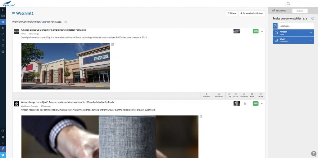 How to Create a News Aggregator Website: CityFALCON newsfeed