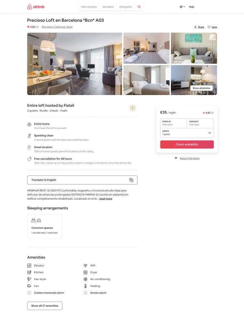How Much Does It Cost To Build A Website Like Airbnb: Apartment Datails